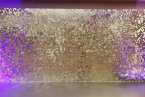Аренда Серебряной стены из пайеток