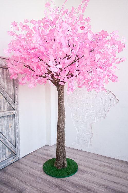 Аренда искусственного дерева Гинкго Розовая 3м.