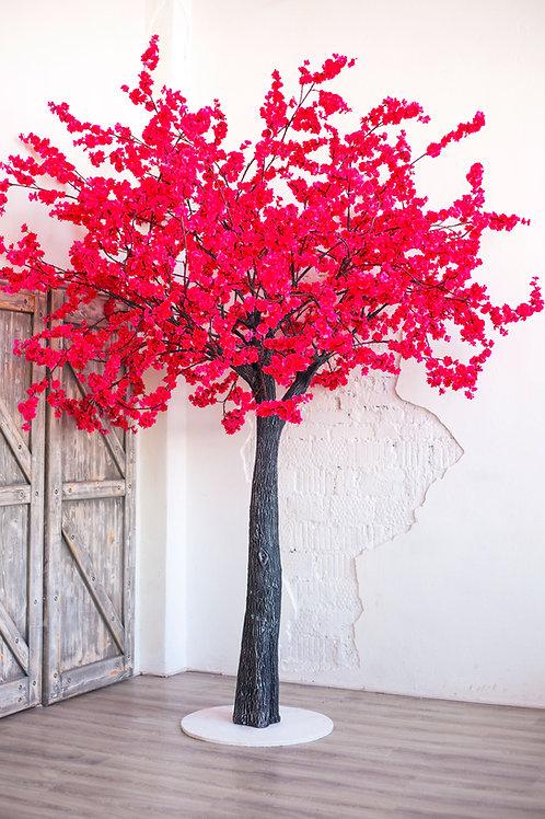 Аренда искусственного дерева Малиновая Сакура 3 м.