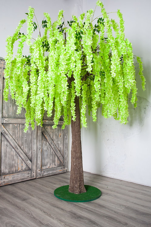Аренда искусственного дерева Глициния Салатовая 3м.