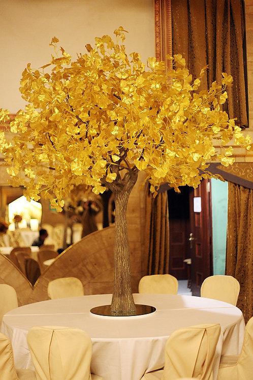 Аренда искусственного дерева Гинкго золотая 2м.