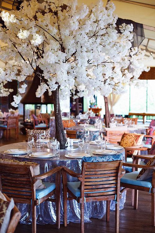Аренда искусственного дерева Белая сакура luxe 2м