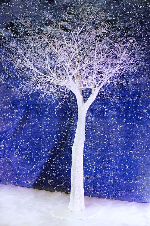 Аренда искусственного белого дерева с голыми ветками 3 м.