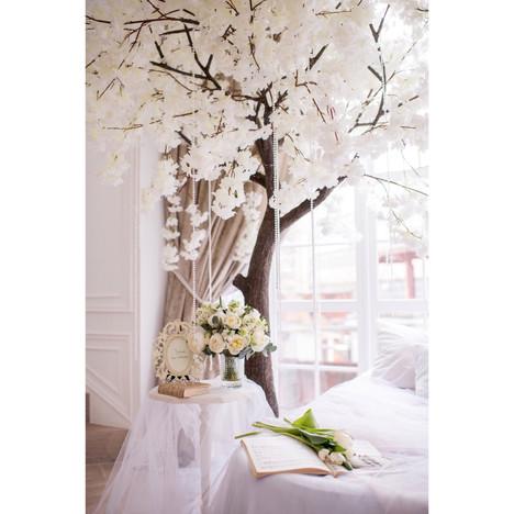 Белая сакура luxe для волшебногоутра невесты! МК Мужецкой