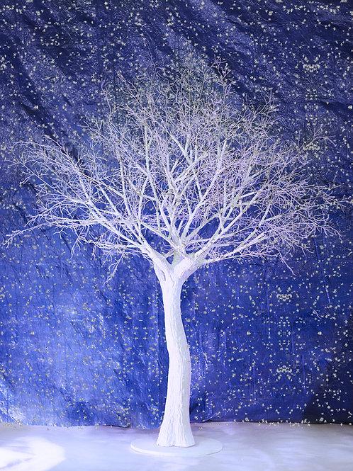 Аренда белого искусственного дерева с голыми ветками 1,9 м.