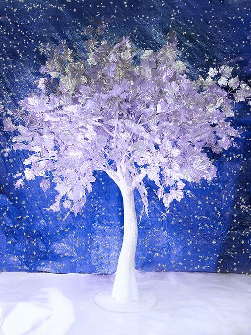 Аренда искусственного дерева Серебряное дерево на белом стволе 2 м.