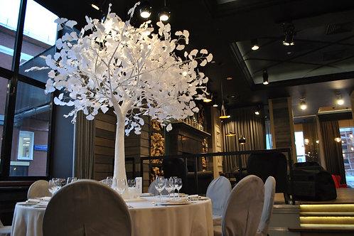Аренда искусственного дерева Гинкго белое 2м. на белом стволе