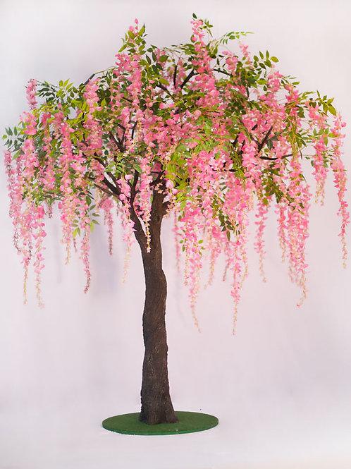 Аренда искусственного дерева Глициния Розовая 3м.