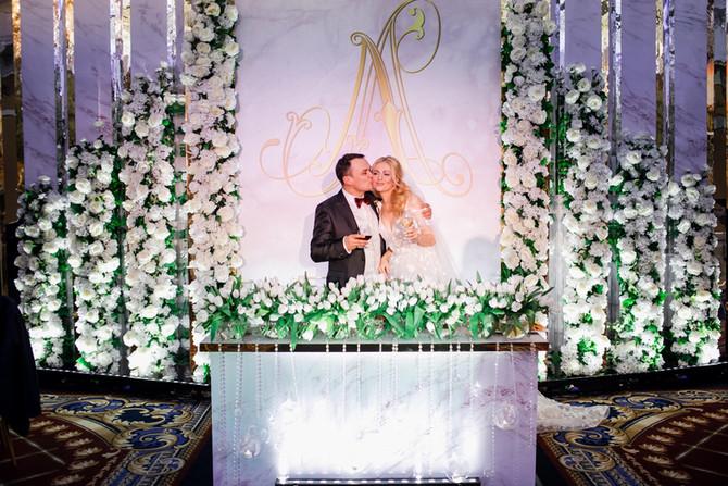 Свадебное Оформление для Леонида и Лидии в отеле Ritz-Carlton ❤️