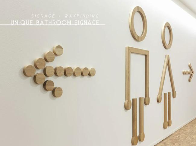 inspirations | unique bathroom signage