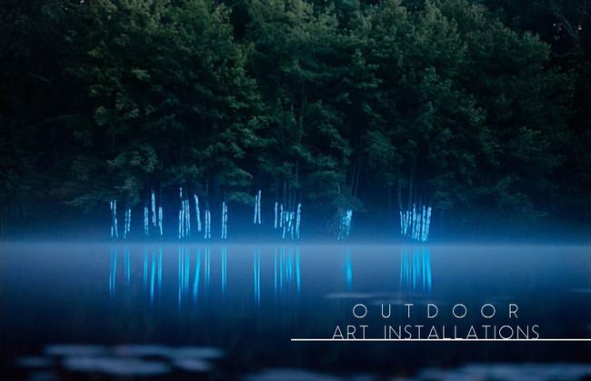 inspirations | outdoor art installations