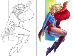 Supergirl: before and after