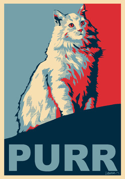 Tom Waits PURR Poster
