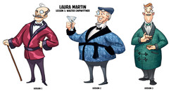 Chip Witters character designs