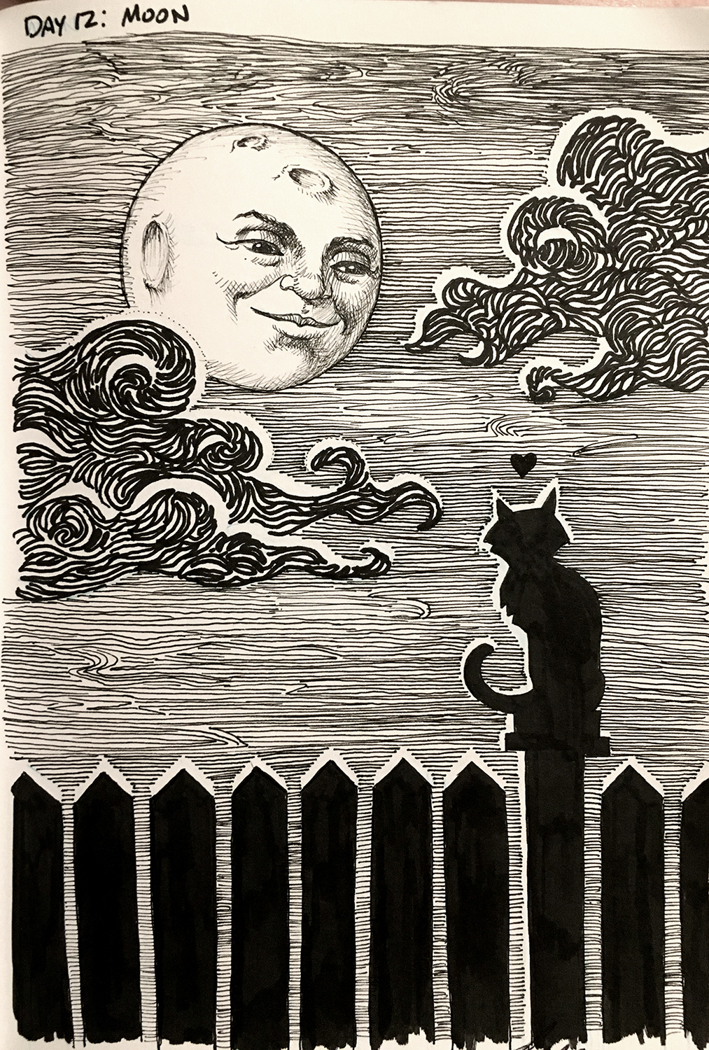 Drawlloween 2015: Moon