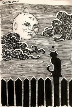 Drawlloween 2015: Moon