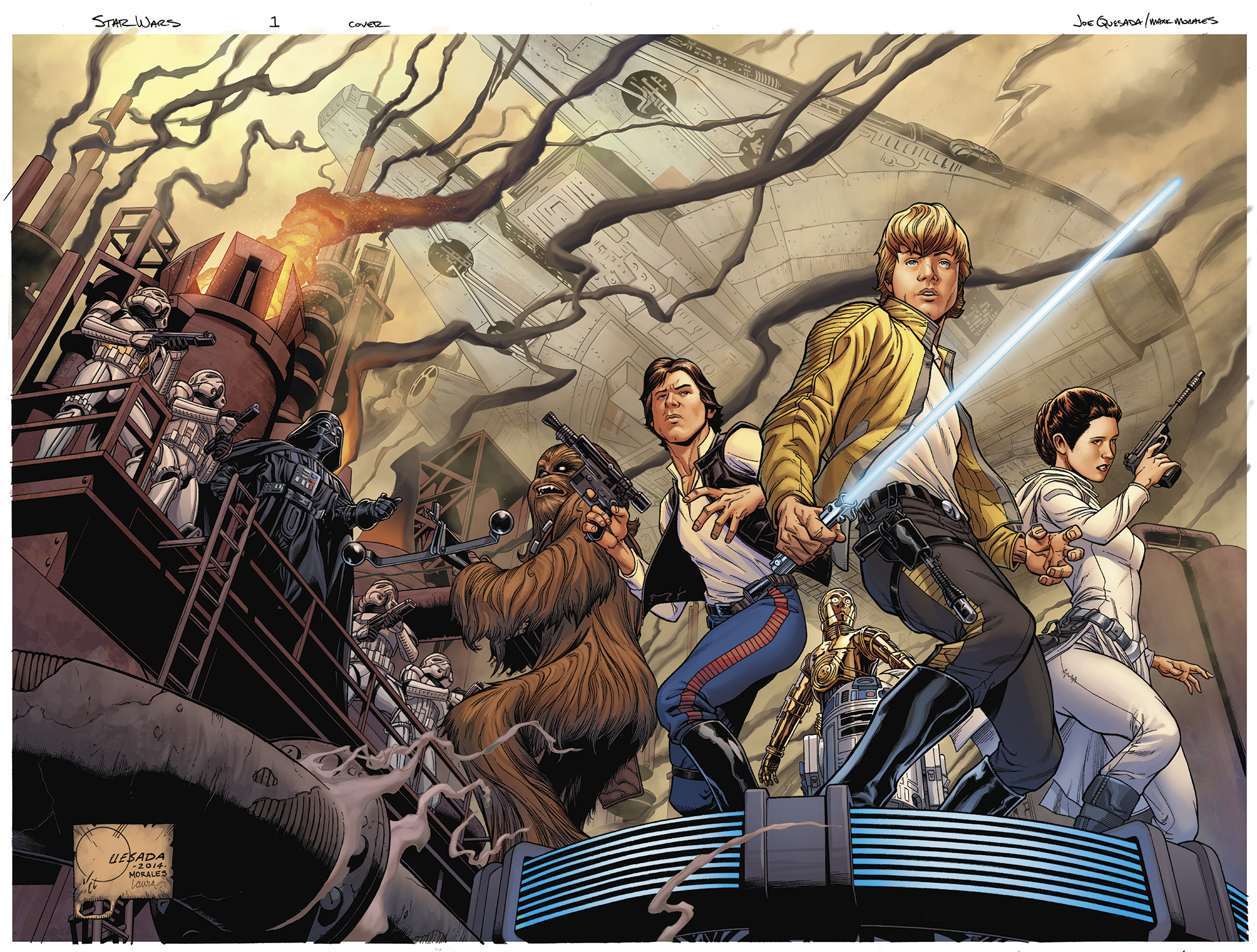 Star Wars #1 Wraparound Cover
