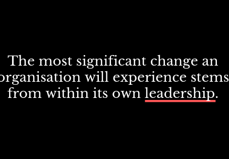Leaders are not automatically experts in managing change