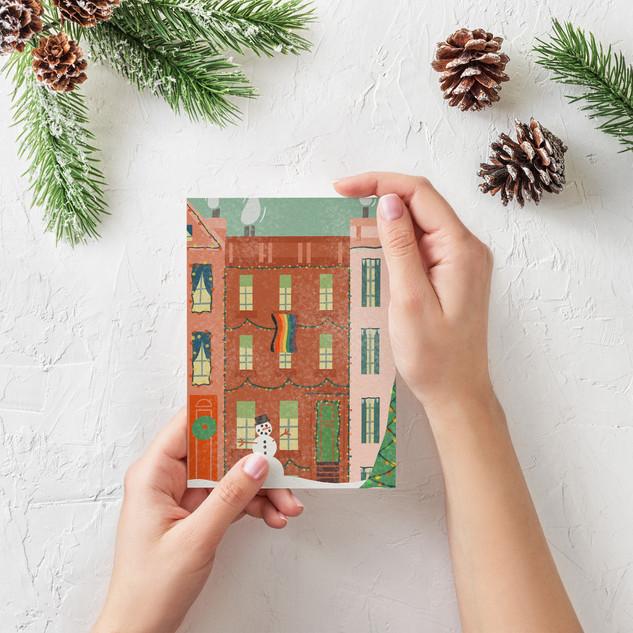 Brownstone Christmas Card