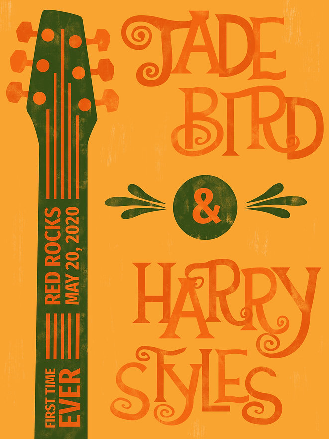 Jade Bird & Harry Styles Music Poster