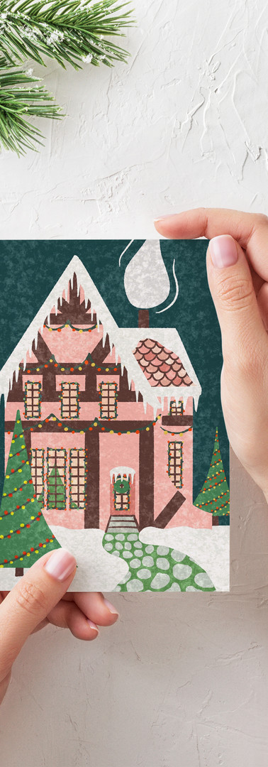 Cottage Card Printed