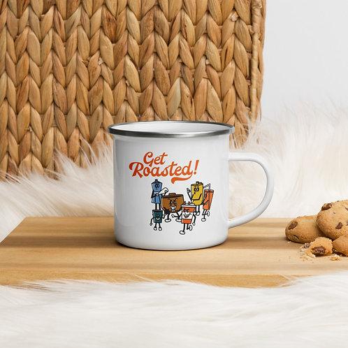 'Get Roasted' Enamel Mug