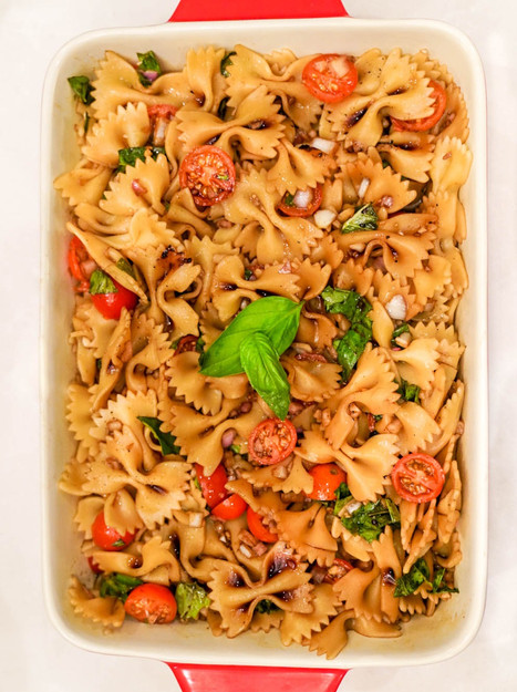 Balsamic Bowtie Cold Pasta Salad