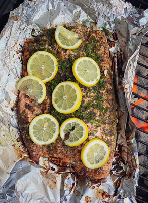 Summer Salmon, With Lemon & Dill
