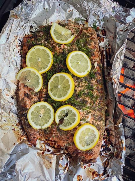 Summer Salmon, With Lemon & Dill
