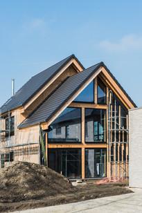 Nieuwbouwwoning in hout