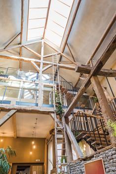 Interieur in houtbouw