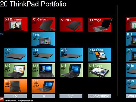 Nye modeller og navne på de nye bærbare fra Lenovo