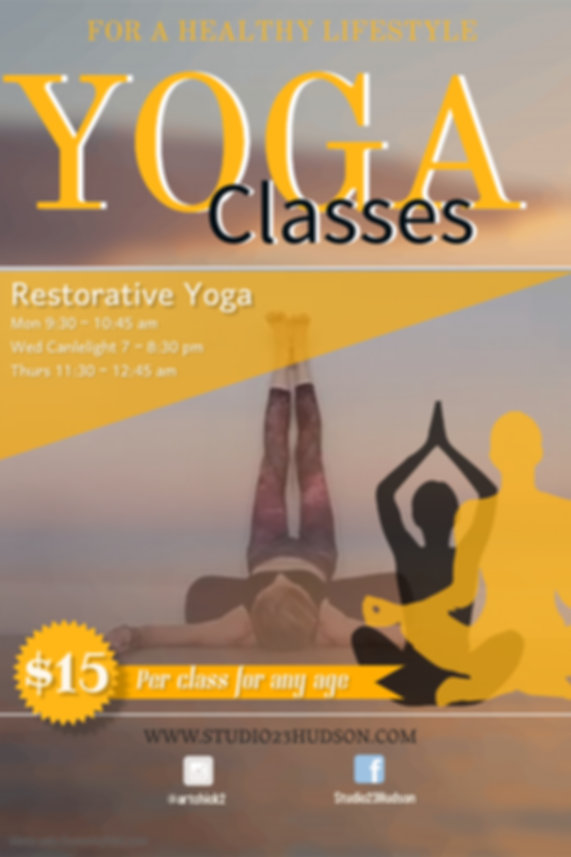 Copy of Yoga Workshop - Made with Poster