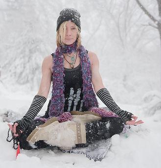 Yoga in a blizzard, Yoga, snow, blizzard