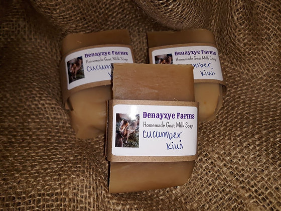Cucumber Kiwi Goat Milk Soap