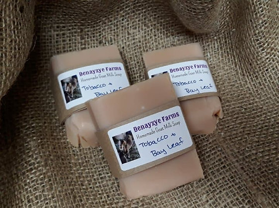 Tobacco & Bay Leaf Goat Milk Soap