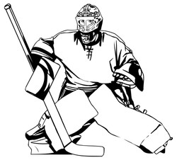 Hockey goalie 6012