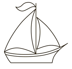 Toy sail boat 3007