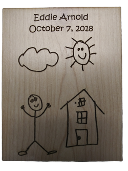 kids drawing plaque