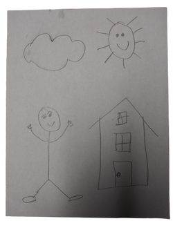 kids drawing paper