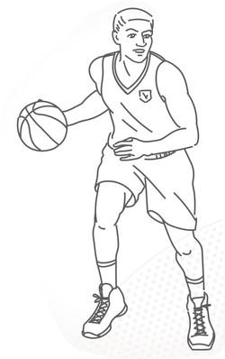 Basketball player 6004