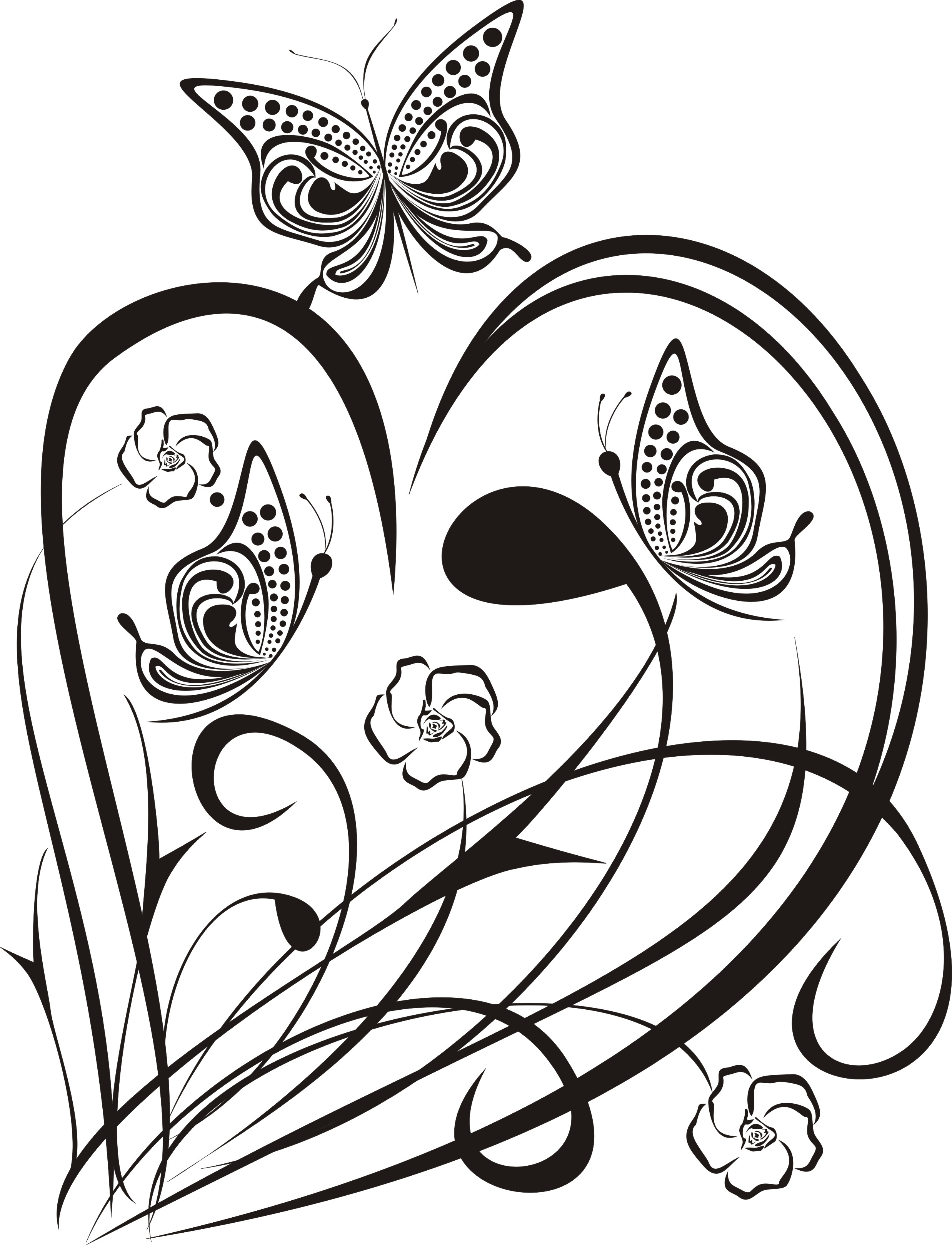 Heart with butterflies 2010