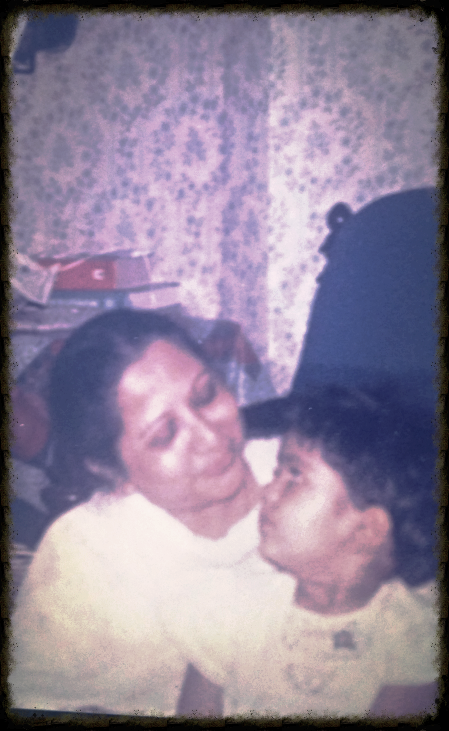 With the grandmother