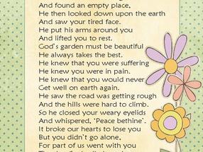 God's Garden - A dedication from Grandma