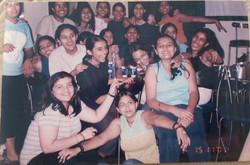 With her bunch of school crazies!