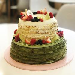 2 Tier Crepe Cake