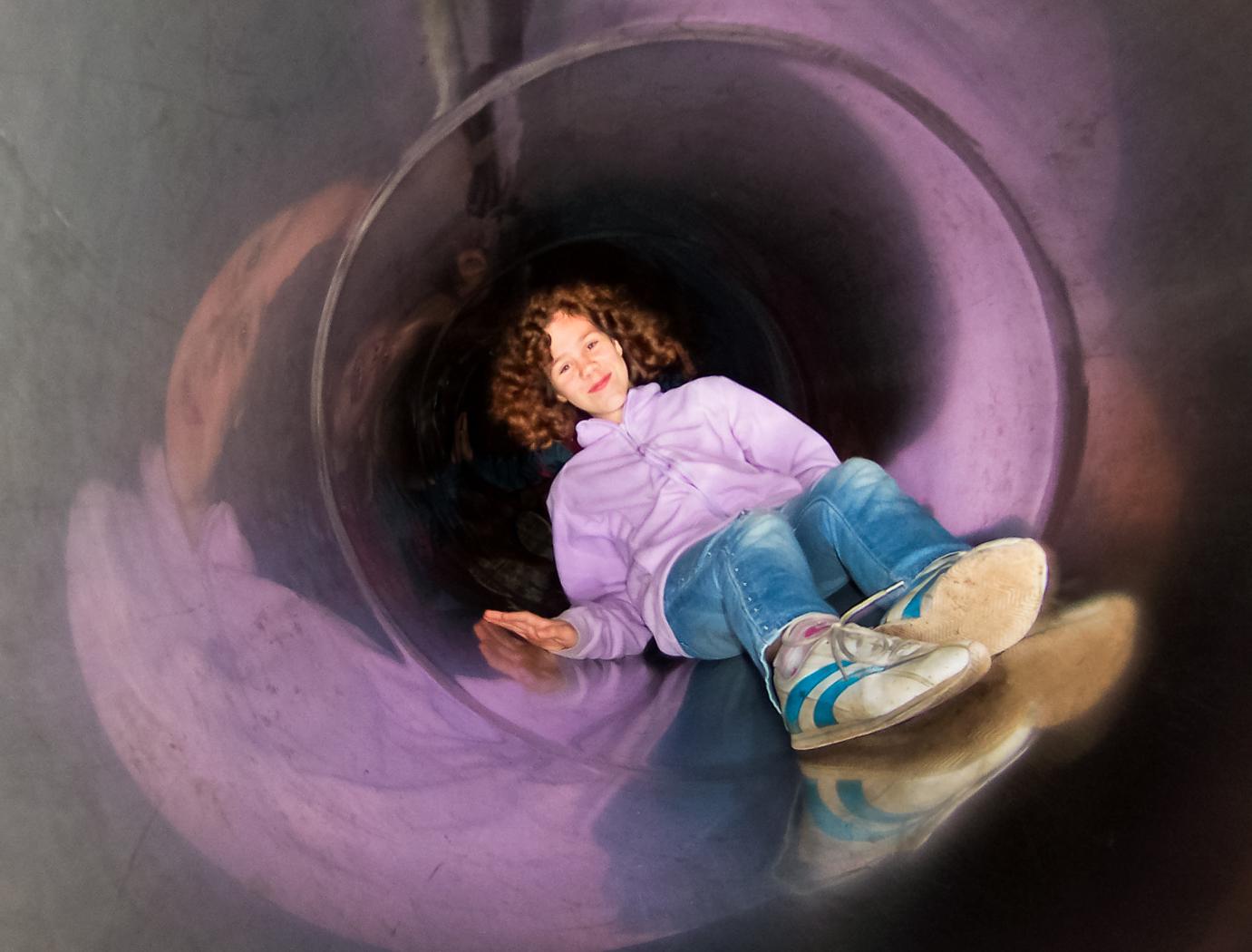 Down a Slide