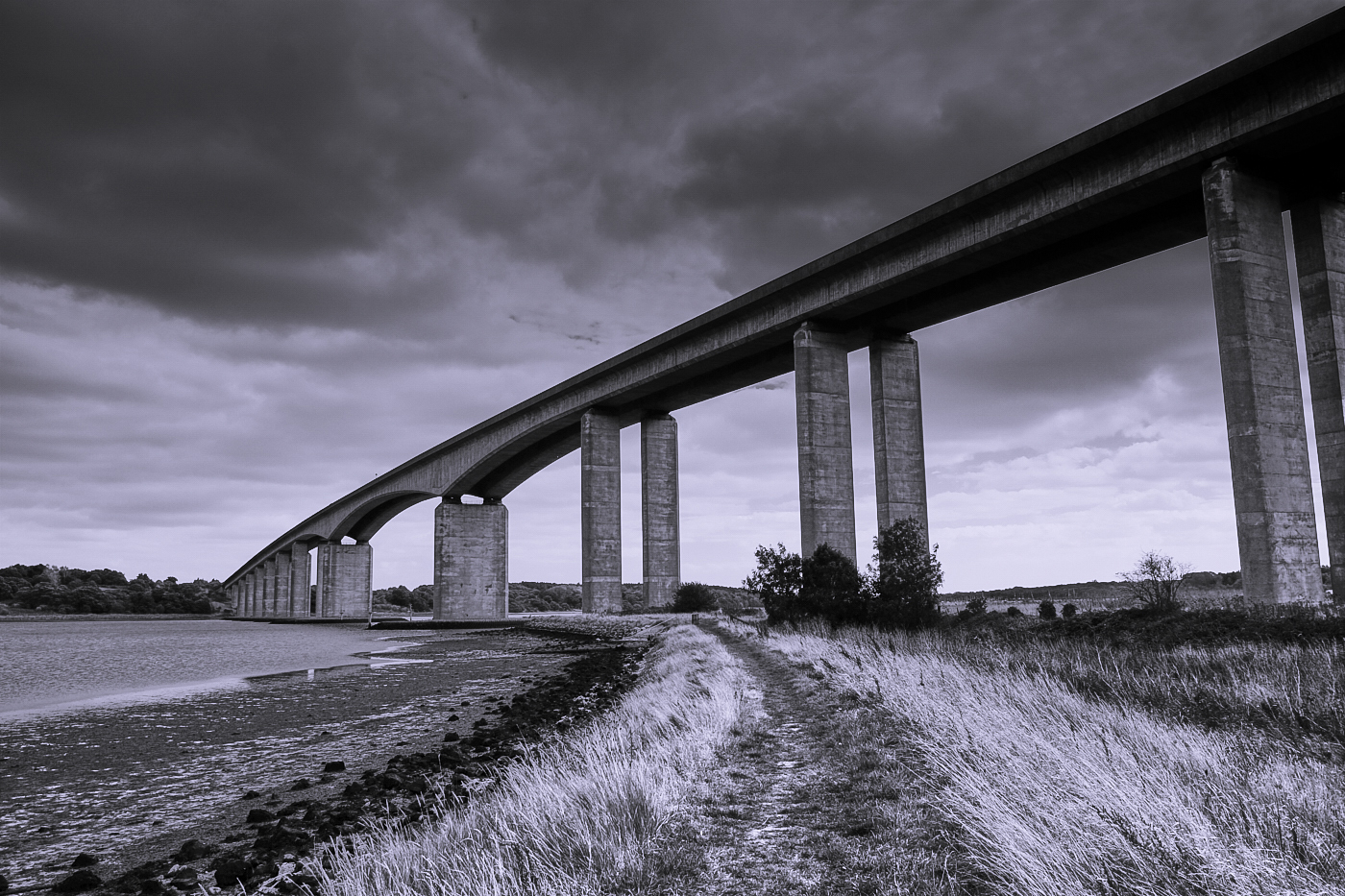 Under the Orwell Bridge