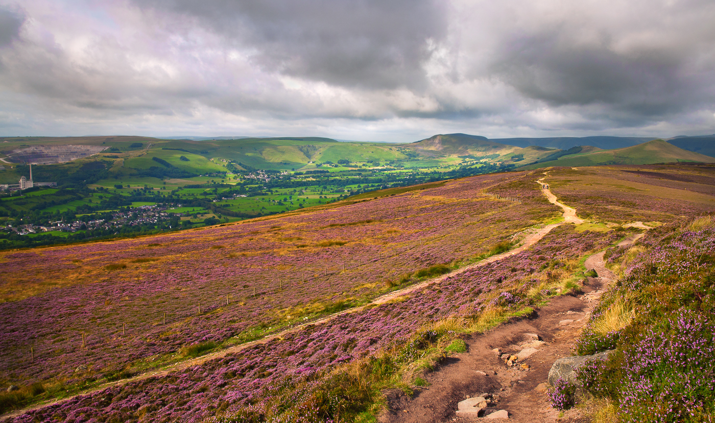 The path from Win Hill Derbyshire