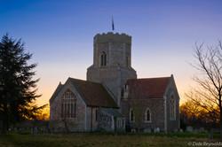 Pakenham Church at sunset